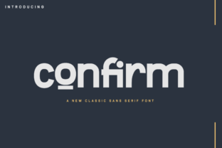 Print on Demand: Confirm Sans Serif Font By twinletter