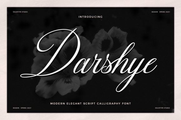 Print on Demand: Darshye Script & Handwritten Font By Solidtype