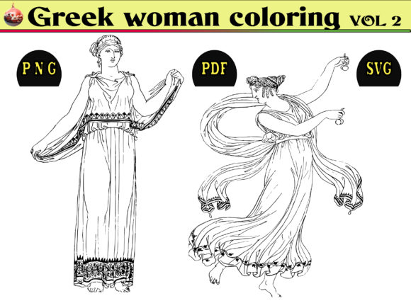 Print on Demand: Greek Woman Coloring KDP Vol2 Graphic Coloring Pages & Books Adults By kdp Edition