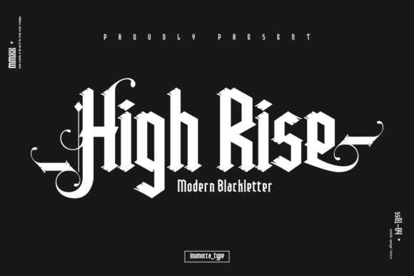 Print on Demand: High Rise Blackletter Font By inumocca_type