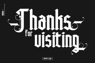 Print on Demand: High Rise Blackletter Font By inumocca_type 11