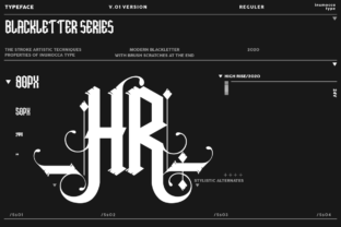Print on Demand: High Rise Blackletter Font By inumocca_type 3