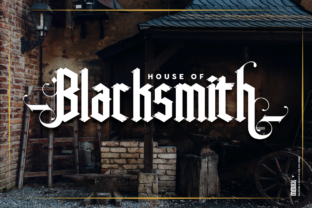 Print on Demand: High Rise Blackletter Font By inumocca_type 9