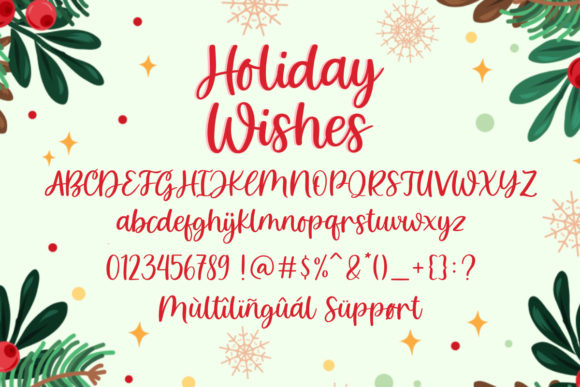 Holiday Wishes Font Item