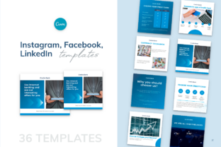 Print on Demand: Instagram, Facebook, LinkedIn Templates Graphic Instapage By milagro.mst