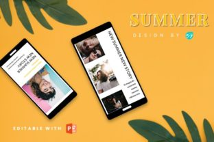 Instagram Story Template - SUMMER Graphic Graphic Templates By 57creative 1