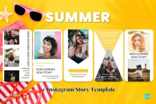 Instagram Story Template - SUMMER Graphic Graphic Templates By 57creative 2