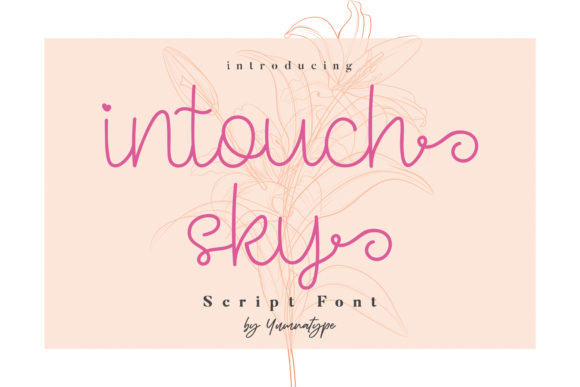 Print on Demand: Intouch Sky Script & Handwritten Font By Yumna_Type