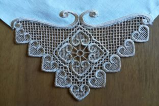 Lace Corner House & Home Embroidery Design By Carol Undy