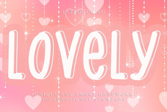 Print on Demand: Lovely Display Font By dazzlinggleam