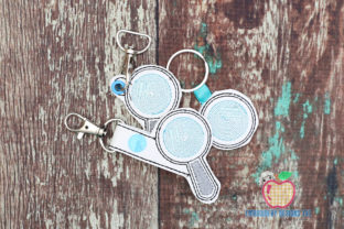 Magnifying Glass in the Hoop Keyfob House & Home Quotes Embroidery Design By embroiderydesigns101