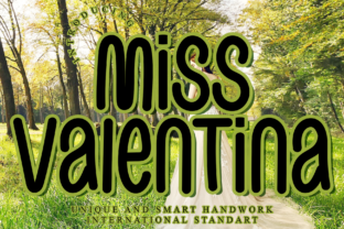Print on Demand: Miss Valentina Display Font By giartstudios