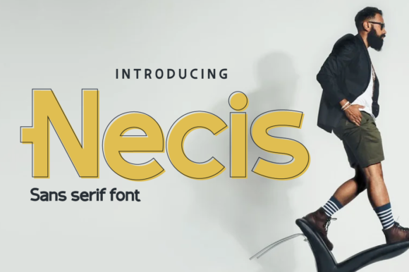 Print on Demand: Necis Sans Serif Font By twinletter