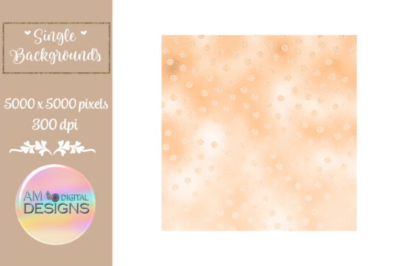 Orange Dreamsicle Ombre Foil Polka Dots Graphic Backgrounds By AM Digital Designs