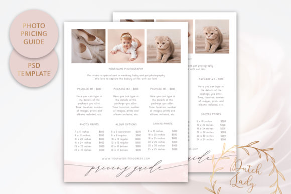 Print on Demand: PSD Photography Pricing Guide #12 Gráfico Plantillas para Impresión Por daphnepopuliers