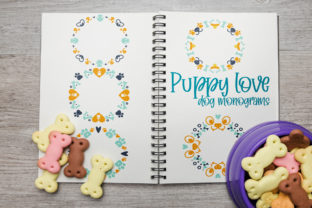 Puppy Love, Dog Monograms Graphic Crafts By Firefly Designs