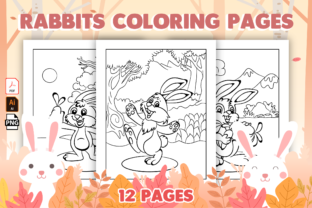 Print on Demand: Rabbits Coloring Pages for Kids Graphic Coloring Pages & Books Kids By MK DESIGN