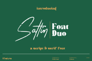 Print on Demand: Sattin Font Duo Script & Handwritten Font By khaiuns