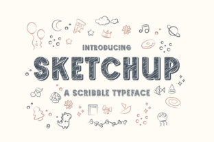 Print on Demand: Sketchup Display Font By TypeFactory