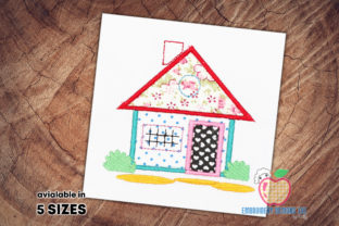 Small House Applique Design House & Home Quotes Embroidery Design By embroiderydesigns101
