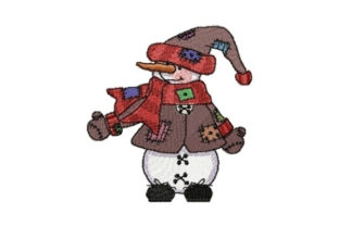 Snowman Brownie Winter Embroidery Design By Sew Terific Designs