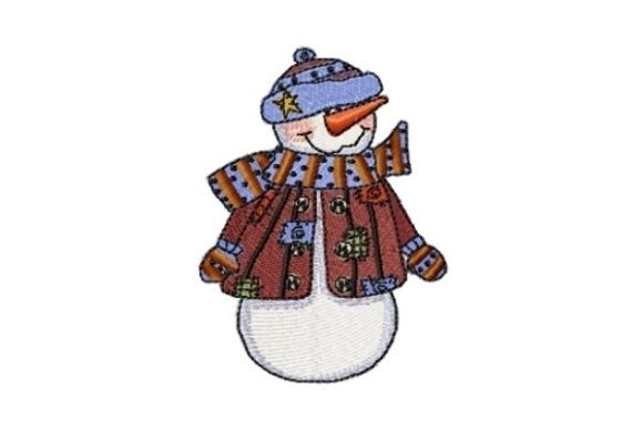 Snowman Patches Winter Embroidery Design By Sew Terific Designs