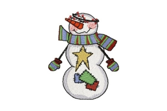 Snowman Twinkle Winter Embroidery Design By Sew Terific Designs