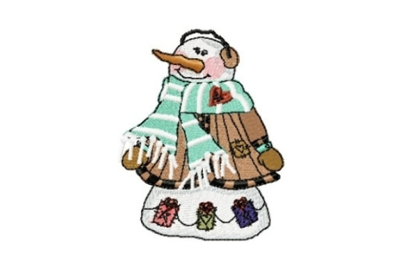 Snowman Zeke Winter Embroidery Design By Sew Terific Designs
