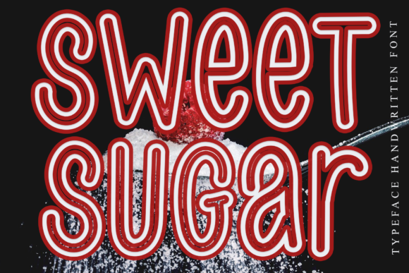 Print on Demand: Sweet Sugar Display Font By dazzlinggleam