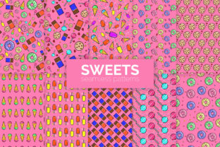 Sweets Seamless Patterns Graphic Patterns By 3Y_Design 2