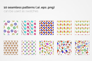 Sweets Seamless Patterns Graphic Patterns By 3Y_Design 6