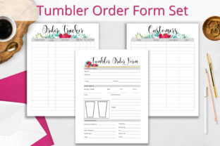 Print on Demand: Tumbler Order Form and Tracker Set Graphic Print Templates By Hustle Smart Shop