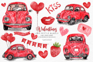 Print on Demand: Valentine's Day Clipart Bundle Graphic Crafts By Chonnieartwork