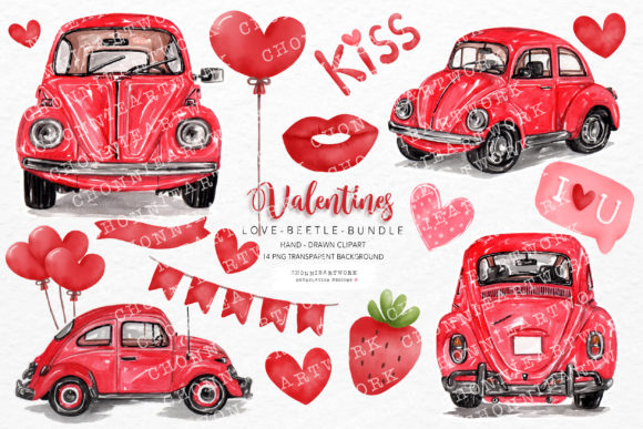 Valentine's Day Clipart Bundle Graphic Crafts By Chonnieartwork