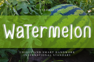 Print on Demand: Watermelon Display Font By giartstudios