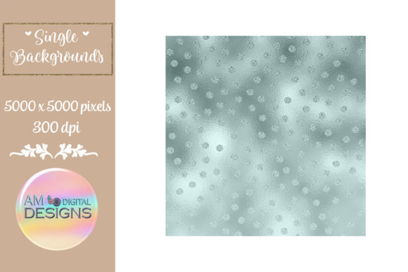 Winter Night Sky Ombre Foil Polka Dots Graphic Backgrounds By AM Digital Designs