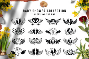 16 Set of Baby Foot Graphic Crafts By AllmoStudio