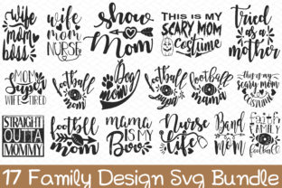 Print on Demand: 17 Family Design SVG Bundle Graphic Graphic Templates By BDB_Graphics