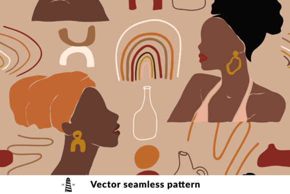 Print on Demand: African Abstract Seamless Pattern Graphic Patterns By northseastudio