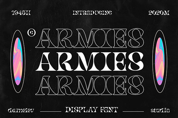 Print on Demand: Armies Display Font By Damelev.