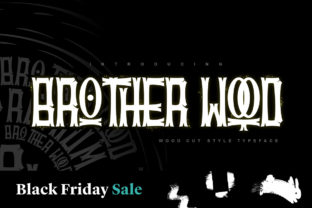 Print on Demand: Brother Wood Display Font By inumocca_type