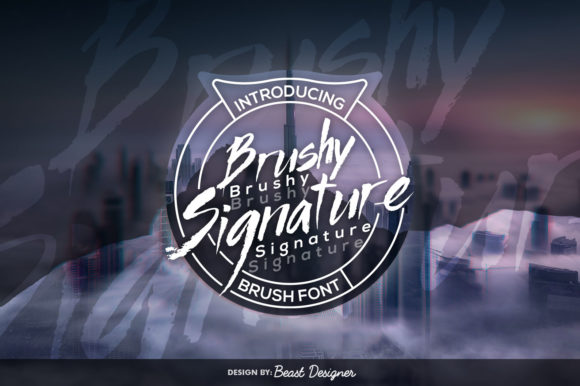 Print on Demand: Brushy Signature Script & Handwritten Font By Beast Designer
