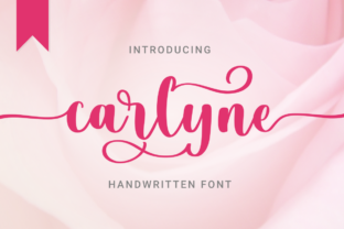 Print on Demand: Carlyne Script & Handwritten Font By kammaqsum