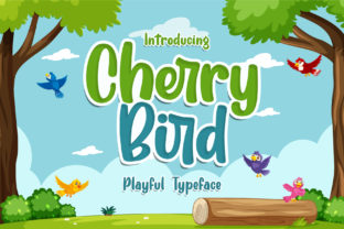 Print on Demand: Cherry Bird Script & Handwritten Font By RochArt