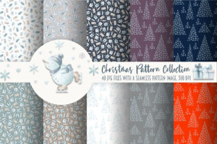 Print on Demand: Christmas Pattern Collection Graphic Patterns By Alena Yasneva