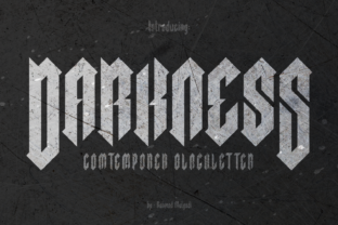 Print on Demand: Darkness Blackletter Font By BaronWNM