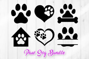 Print on Demand: Dog Paw SVG - Pet Paw Prints Graphic Crafts By DTCreativeLab