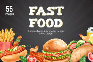 Fastfood Watercolor Illustrarion Set Graphic Illustrations By WatercolorEps