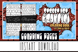 Graffiti Street Art Coloring Book Pages Graphic Coloring Pages & Books Kids By Rabbit Art