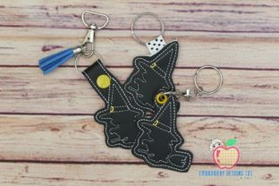 Halloween Witch Keyfob Keychain ITH Halloween Embroidery Design By embroiderydesigns101